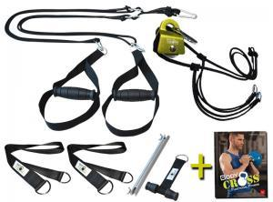 BodyCROSS Slingtrainer Bundle – inklusive Umlenkrolle & Trainingsbuch!