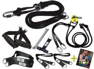 BodyCROSS Slingtrainer Set – inklusive Umlenkrolle & Trainingsbuch!